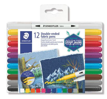 STAEDTLER Double-ended fabric pen 12 pieces set