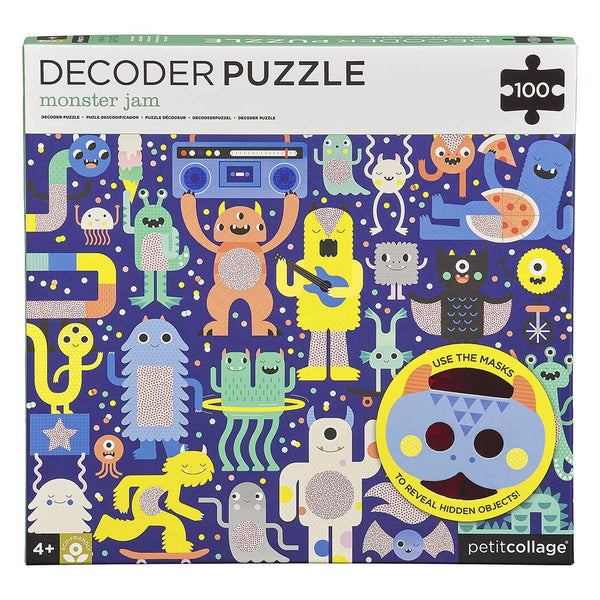 PETIT COLLAGE Decoder Puzzle - Monster Jam