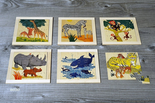 ATELIER FISCHER Large Plywood Puzzle Wild Animals