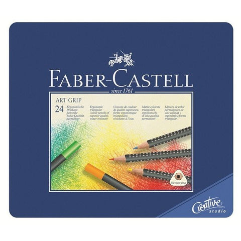 FABER-CASTELL Art Grip Colour Pencil Tin 24