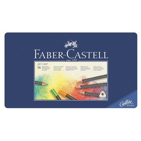 FABER-CASTELL Art Grip Colour Pencil Tin 36