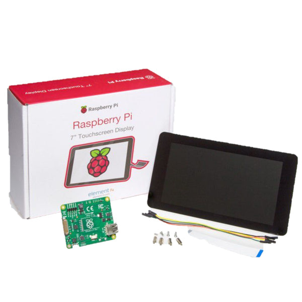 "RASPBERRY PI 7"" Touch Screen Display, 10 Finger Capacitive Touch, Daughter Board"