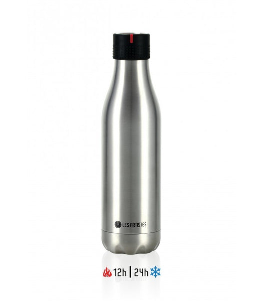 LES ARTISTES Bottle UP 40 isotherm 500ml Metallic argent/16,5fl.oz Stainless steel