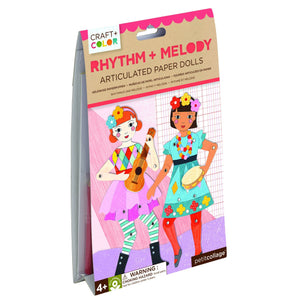 PETIT COLLAGE Rhythm & Melody Articulated Paper Dolls Craft & Color