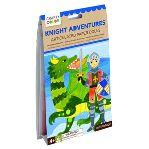 PETIT COLLAGE Knight Adventures Articulated Paper Dolls Craft & Color