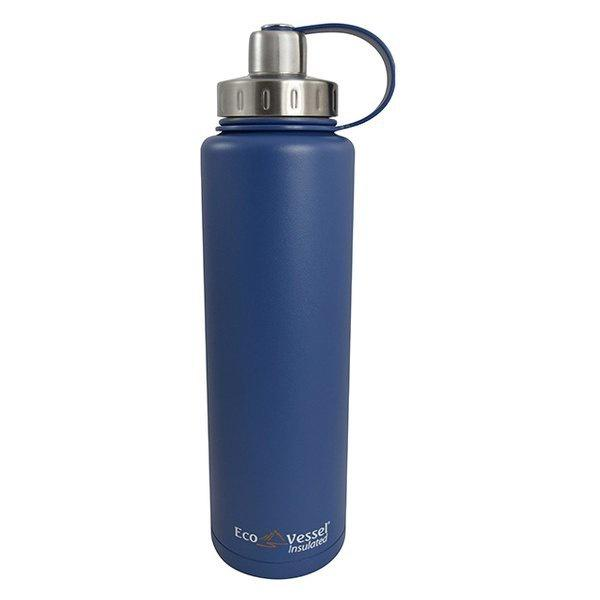 ECOVESSEL BigFoot - 45oz (1300ml) TriMax Triple Insulated Bottle with 2-Piece Screw Cap and Strainer
