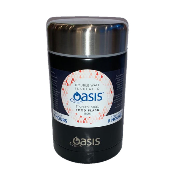 OASIS Insulated Food Flask 450ml Matt Black