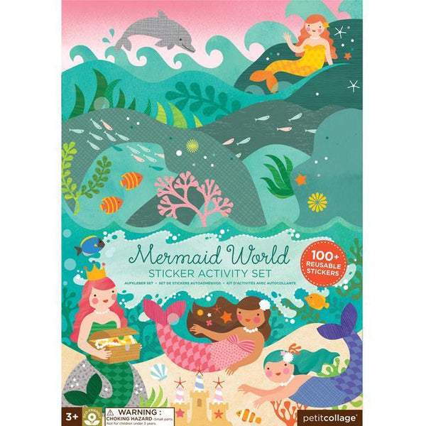 PETIT COLLAGE Mermaid World Sticker Activity Set