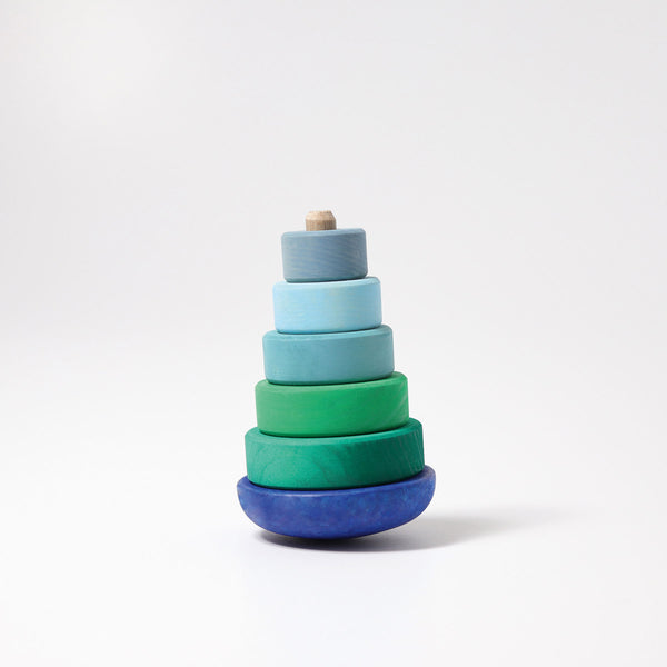GRIMM'S wobbly stacking tower, blue-green