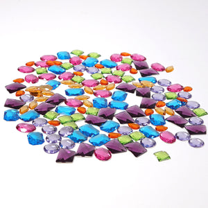 GRIMM'S XXL Acrylic Glitter Stones, 140 Giant pieces single packed
