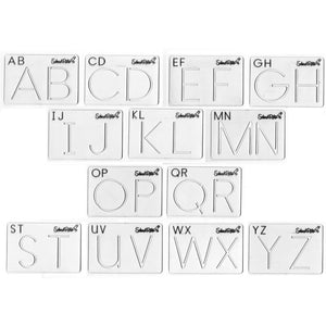 SCHOOL RITE Beginning Alphabet Templates, Uppercase