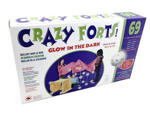 CRAZY FORTS 69 Pc Set - Glow-in-the-Dark