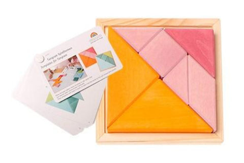 GRIMM'S Creative Set Tangram incl templates, orange-pink