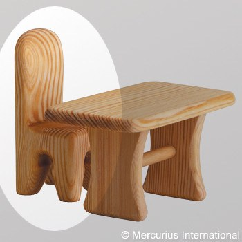DEBRESK wooden toy doll chair