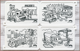 COLOUR ME MATS Emergency & Construction Vehicles (Colouring Mat Only)
