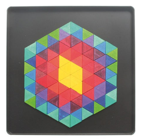 GRIMM'S mini magnetic puzzle hexagon triangle, 96 pcs.