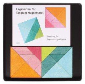 GRIMM'S mini magnetic puzzle set of 2 tangrams with templates