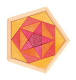 GRIMM's mini puzzle pentagon, red-yellow