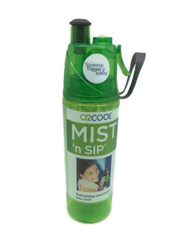 O2cool Classic Transparent Mist 'N Sip 20oz Bottle