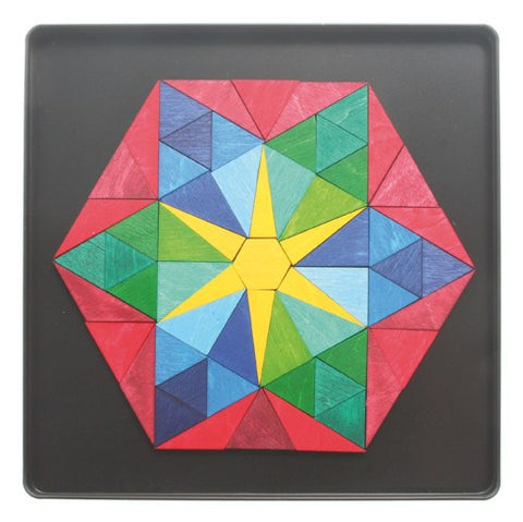 GRIMM'S mini magnetic puzzle hexagon star, 61 pcs.