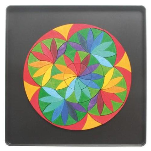 GRIMM'S mini magnetic puzzle circle flower, 100 pcs.