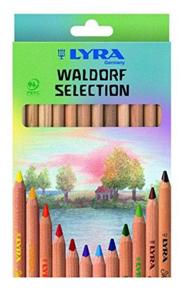 LYRA Super Ferby unlacquered assorted 12 colors Waldorf Selection