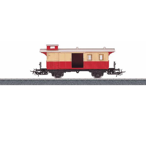 MARKLIN Baggage Car - Red and Beige