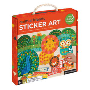 PETIT COLLAGE Animal Friends Sticker Art Kit
