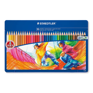 STAEDTLER Motif Line Hexagonal Coloured Pencil 36 pcs in Tin Box