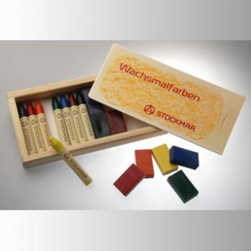 STOCKMAR combination set 8 blocks + 8 sticks (wooden box)