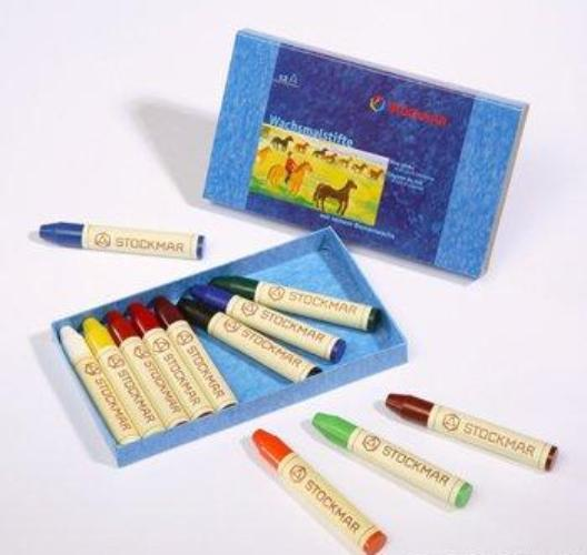 STOCKMAR stick crayons 12 assorted (carboard box)