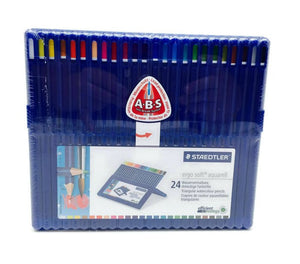 STAEDTLER ergosoft aquarelle 156 - Triangular Water Colour Pencil Staedtler Box 24pcs