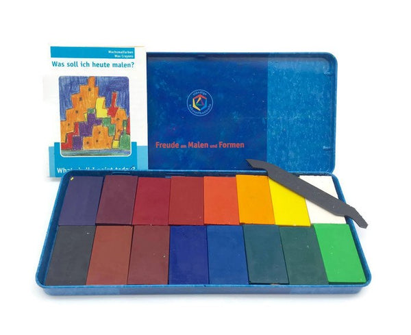 STOCKMAR block crayons 16 assorted (tin)