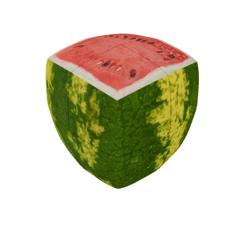 V-CUBE Watermelon Cube 2 Pillow