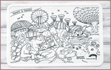 COLOUR ME MATS Timmy & Tammy Around Our Island & Neighbourhood (Duo Colouring Mats Bundle)