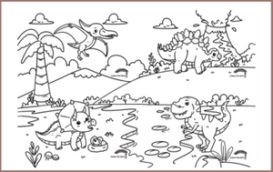 COLOUR ME MATS Land of Dinosaurs (Colouring Mat Bundle)