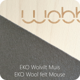 WOBBEL XL Transparent Lacquer Felt Mouse Grey (39A)