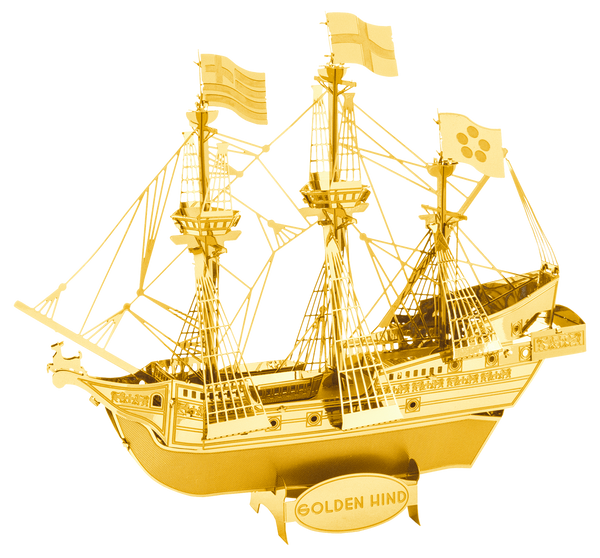 METAL EARTH Golden Hind - GOLD