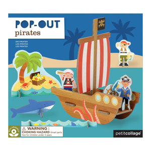 PETIT COLLAGE Pirate Ship Pop-Out