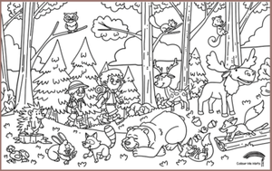 COLOUR ME MATS Into the Woods (Colouring Mat Bundle)