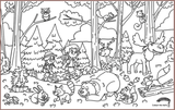 COLOUR ME MATS Into the Woods (Colouring Mat only)