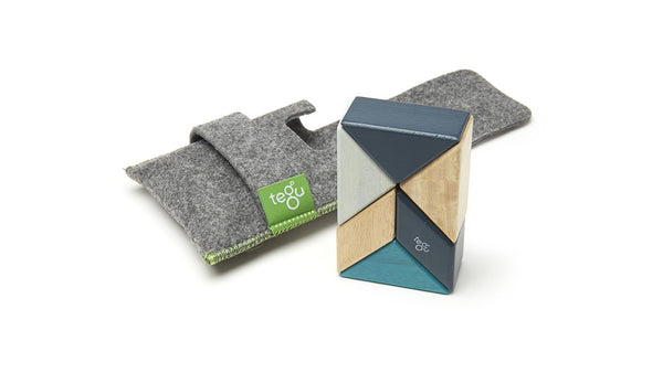 TEGU 6 piece Pocket Pouch Prism Blues