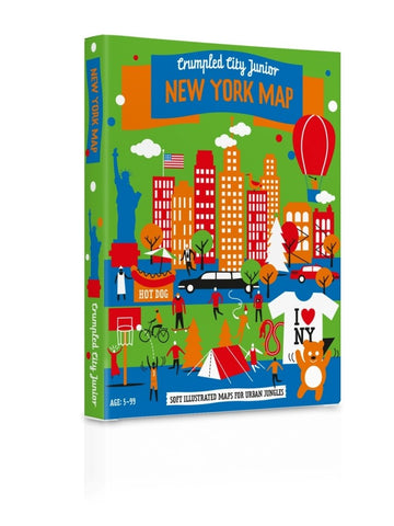 CRUMPLED CITY JUNIOR - New York Map
