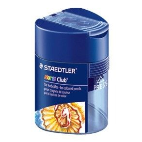 STAEDTLER Double hole Triangular Sharpener - For Colour Pencils