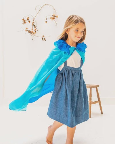 SARAH'S SILKS Capes - Turquoise/Blue