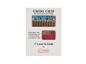 "CHIBITRONICS""Love to Code"" Chibi Chip for Circuit Stickers"