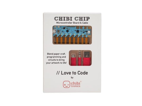 "CHIBITRONICS ""Love to Code"" Chibi Chip for Circuit Stickers"