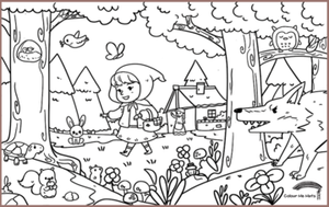 COLOUR ME MATS Little Red Riding Hood (Colouring Mat Only)