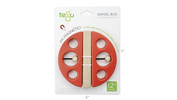 TEGU Swivel Bug Building Blocks, Lady Bug