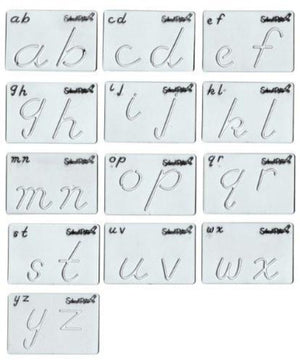 SCHOOL RITE Beginning Alphabet Templates, Transitional Lowercase